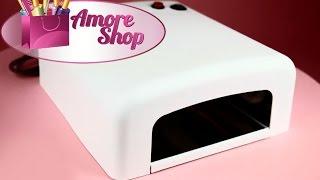Уф лампа 006 для геля и гель-лака (УФ лампа для ногтей). Видео обзор от AmoreShop