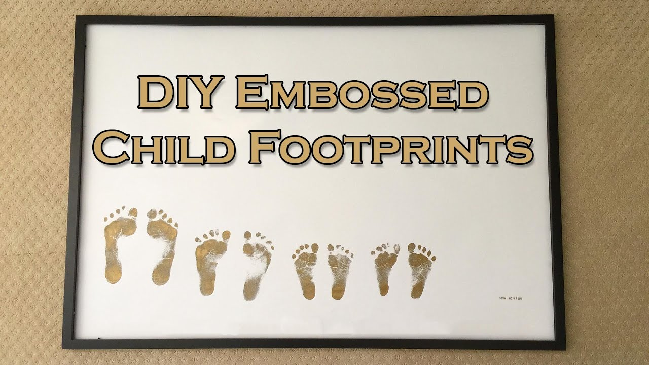 diy embossed child footprints