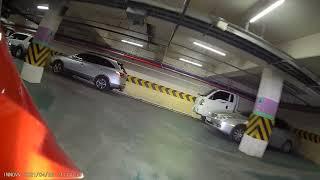 이노브K3 블랙박스 전방 야간 지하주차장 주행 영상