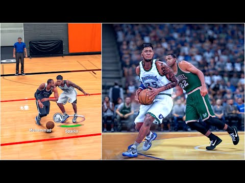 NBA 2k16 My Career | Position Battle | CAUGHT MY FIRST VICTIM UNDER THE BASKET