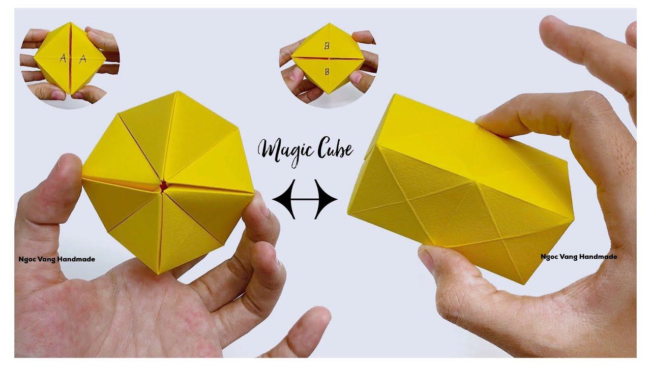 Origami - Magic cube • Đồ chơi biến đổi hình dạng bằng giấy by NGOC VANG Handmade