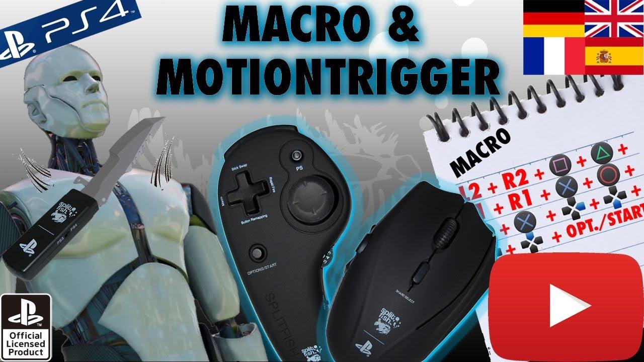 SplitFishGameware FragFX Shark PS4/PS3 - Macro/Motion trigger