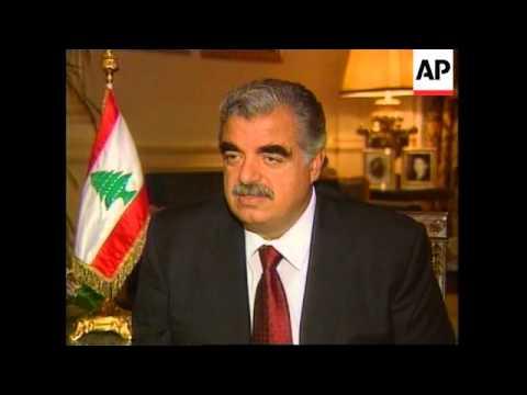LEBANON: PM DESIGNATE RAFIK HARIRI INTERVIEW