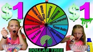MYSTERY WHEEL OF 1 DOLLAR SLIME CHALLENGE!!!