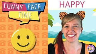 Teaching kids emotions | Funny Face Time | Happy | Pevan and Sarah