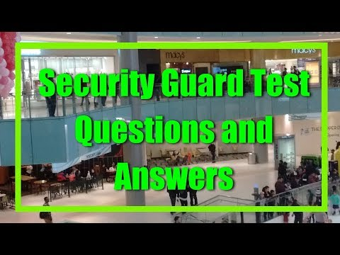 Security Guard Test Questions and Answer PDF