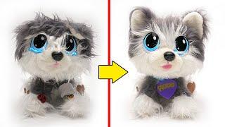 Unboxing Boneka Rescue Runts | Membuat Boneka Plush Husky Ceria