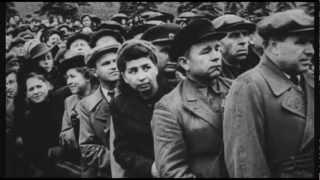 Парад Победы в Москве в 1945 году. Фашистские знамена повержены