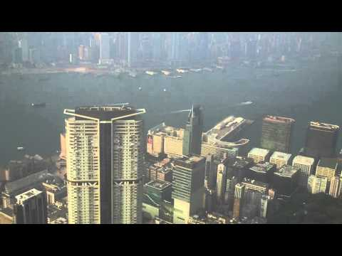 Close Look at Kowloon, Victoria Harbour and Kai Tak Runway.MP4