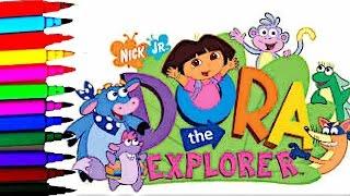 Coloring Page Dora The Explorer Kids Coloring Dora Boots Tico Kids Fun Art Kids Balloons Toys