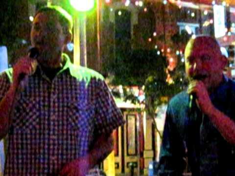 Army National Guard Men singing Karaoke