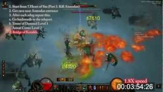 Diablo 3 Best Farming Route in 1.0.6 patch. Alkaizer run. Act 3. Barbarian POV