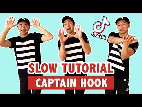 CAPTAIN HOOK TUTORIAL (SLOW) | TIK TOK DANCE