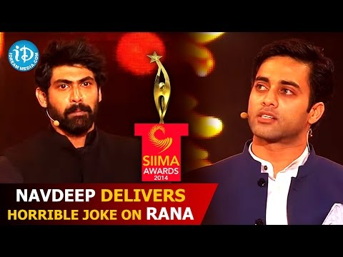 Thumbnail: Navdeep Delivers Horrible Joke on Rana Daggubati @ SIIMA 2014 Awards | Telugu