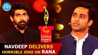 Navdeep Delivers Horrible Joke on Rana Daggubati @ SIIMA 2014 Awards | Telugu