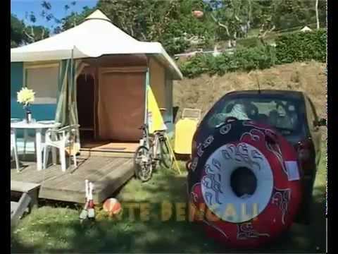 Mobil home et Bengali du Camping Beau Rivage au Lac de Pareloup en Aveyron