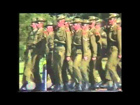 21 and 24 Platoon March Out Parade 1990