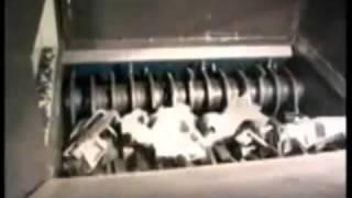 3E четырехвальный шредер, измельчение пластика.(, 2012-05-11T08:15:34.000Z)