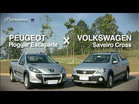 Peugeot Hoggar Escapade x VW Saveiro Cross