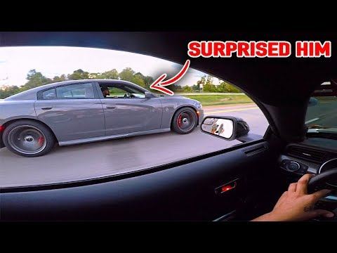SLIGHLY MODIFED MUSTANG GT DESTROYS CHARGER HELLCAT!