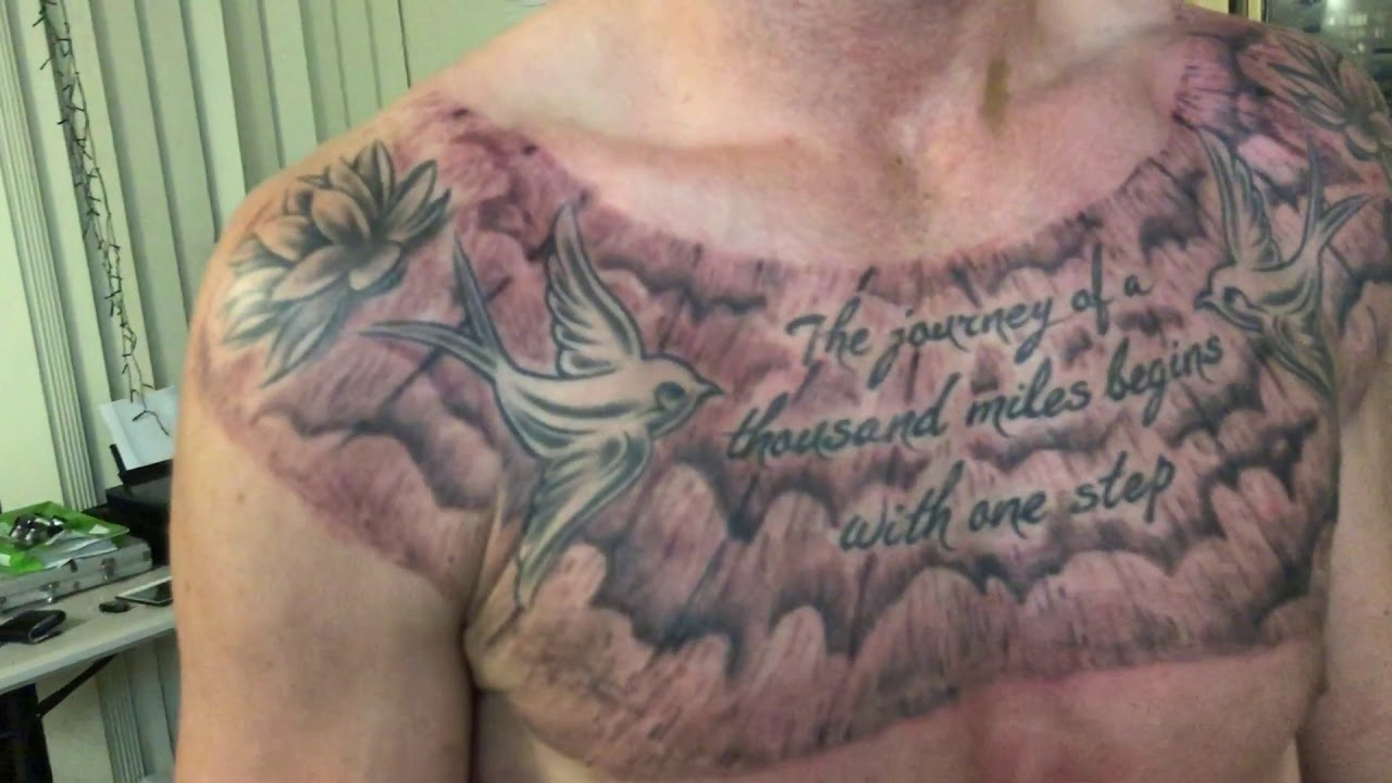 Cloud On Chest Tattoo