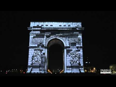 Paris New Year's Eve show on the Champs-Elysées