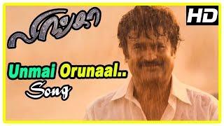 Lingaa Movie Scenes | Rajini leave as villagers mistake him | Unmai Orunaal Song | Sonakshi