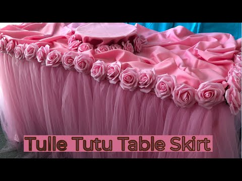 How to make your own tulle table skirt