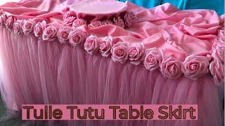 Tulle Tutu Table Skirting