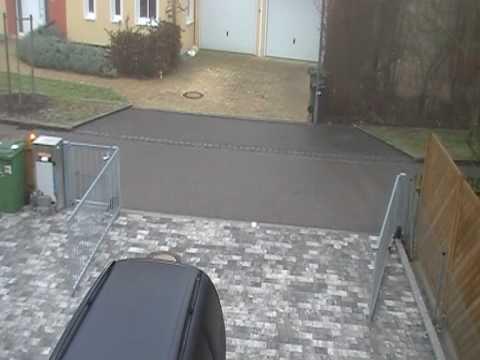 Elektrisches Gartentor Hoftor Tor Eigenkonstruktion Bj 2009 - Youtube Garageneinfahrt Am Hang