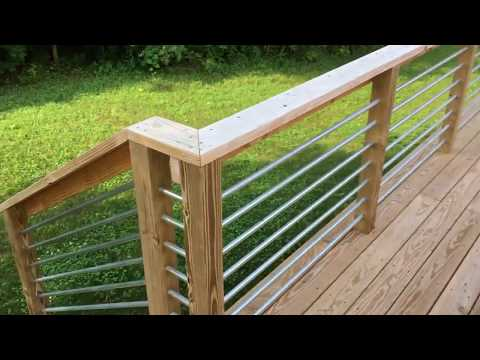 How to Build a Deck with Metal Conduit Railings