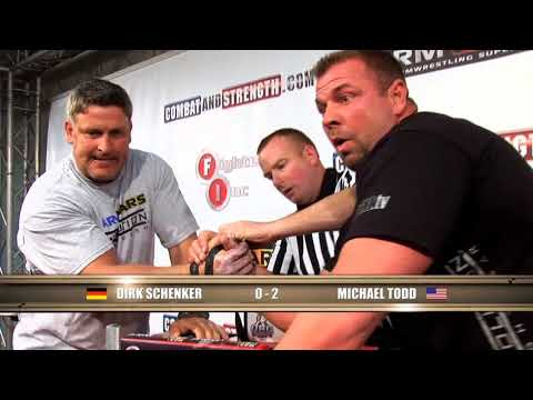Arm Wars | Armwrestling | Schenker GER v Michael Todd USA