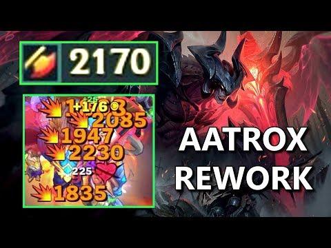 2170 ATTACK DAMAGE AATROX! (Rework Aatrox Damage Test)