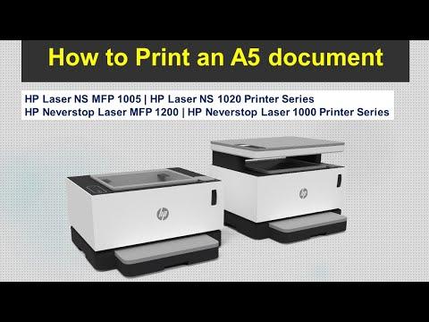 HP Neverstop Laser | Laser NS Printer Series : Print an A5 document