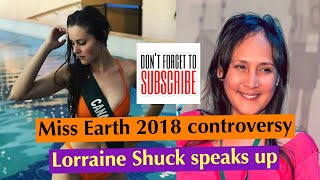 Lorraine Schuck clarifies issue regarding controversial exit of Miss Canada in Miss Earth 2018