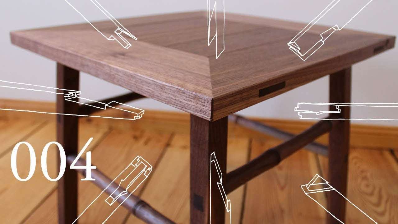 100 Wood Challenge Ep 4 Side Table No Glue No Screws