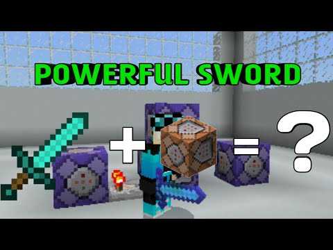How To Make A Powerful Sword In Minecraft Pe No Mods No Addon