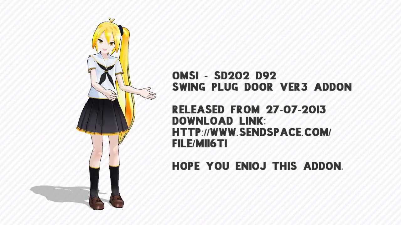 OMSI - SD202 D92 SWING PLUG DOOR VER3