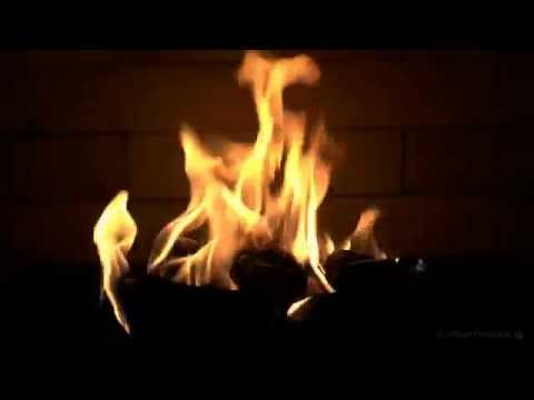 Slow Burning Orange Flame Fireplace with Relaxing Fire Sounds (Full HD)