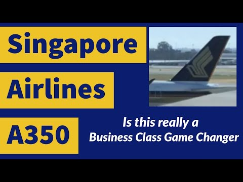 Singapore Airlines A350 Business Class Review | Amazing Flight From Perth To Singapore