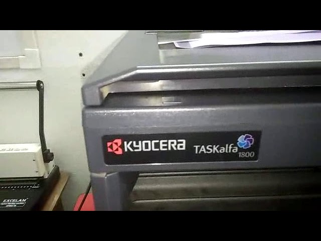 KYOCERA TASKALFA 1800 FULL REVIEW -BERA XEROX Download video