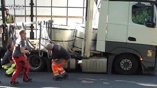 VN24 - 31.08.2021 - Holzwickede A1 / Deutschland - Gegen 15:48 Uhr musste ein LKW-Fahrer auf der Autobahn A1 zwischen der Anschlussstelle Schwerte ...