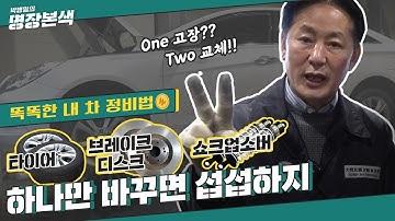 ₩똑똑한 내 차 정비법₩ One고장 Two교체… 쌍으로 바꾸고 오래 타자 (feat.타이어, 쇼크업소버, 브레이크디스크)
