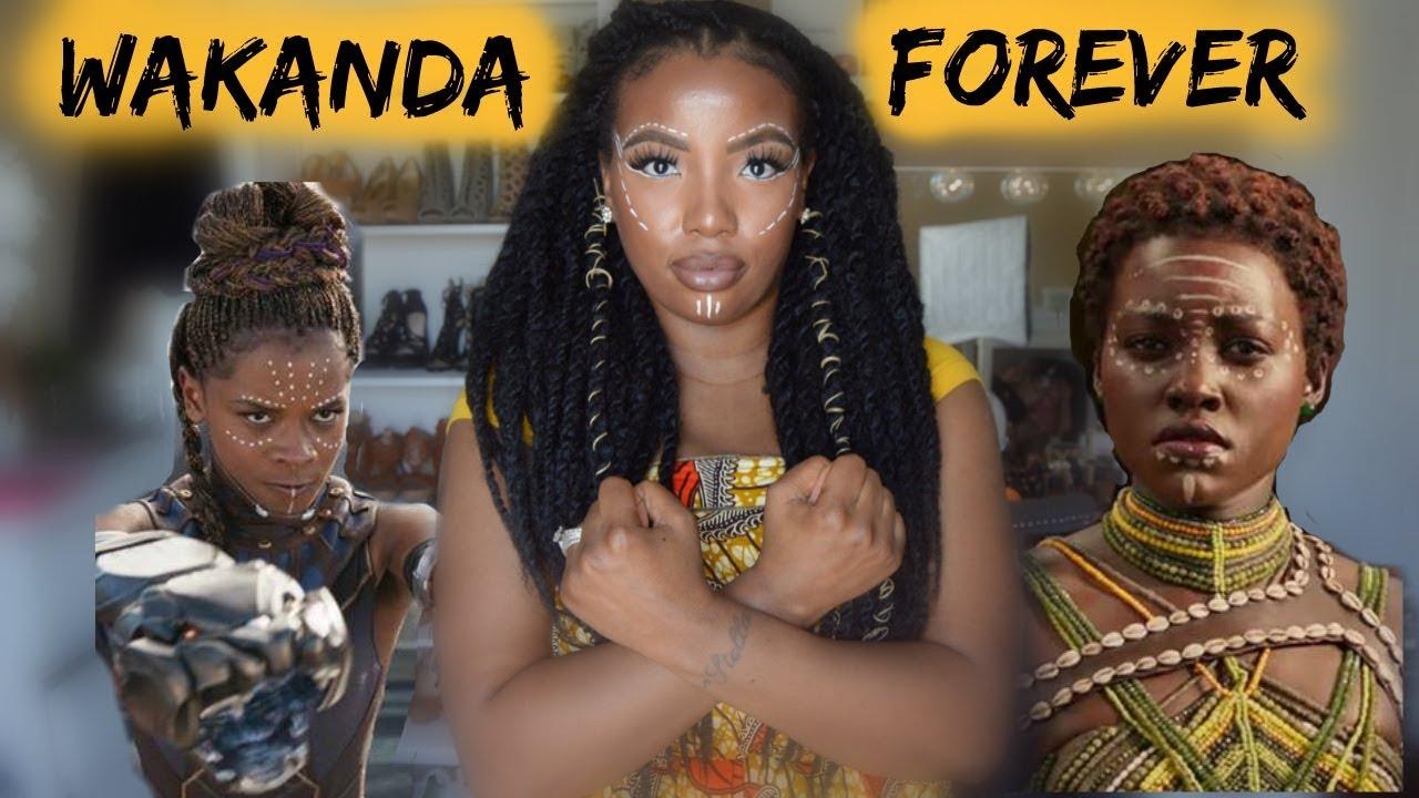 02769721d4b1 Black Panther Inspired GRWM- African Wrap Dress 5 ways