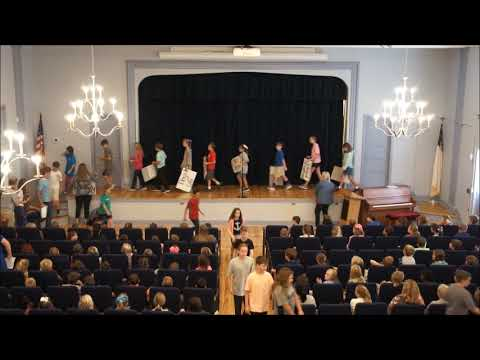 Mrs. Grant's 5th Grade Chapel Program - Aucilla Christian Academy