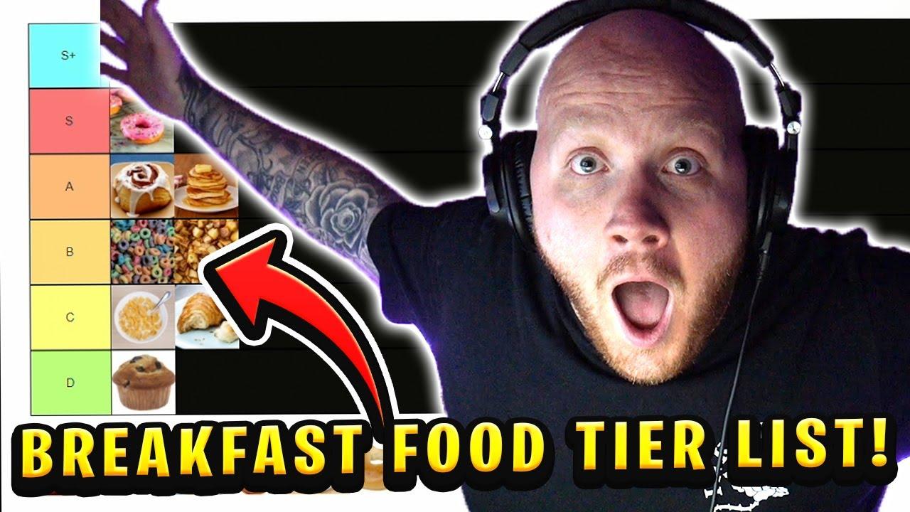 TIMTHETATMAN RANKS BREAKFAST FOODS!