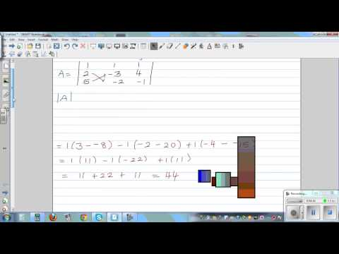 Determinant of 3 x 3 matrix and checking answer on graphic calculator
