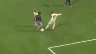 Hijo de CR7 burla al hijo de Vázquez y Modric para un golazo en el Bernabéu   jugada de crack