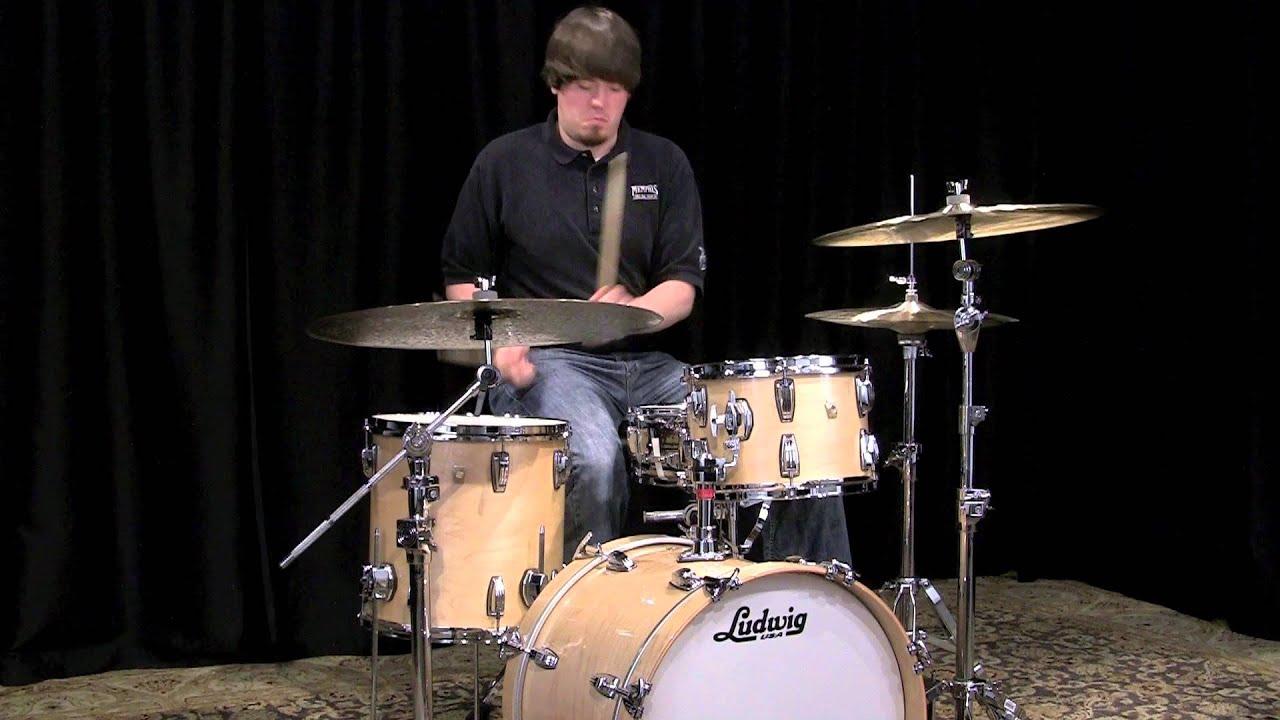 ludwig classic maple drum set 20 12 14 natural youtube. Black Bedroom Furniture Sets. Home Design Ideas
