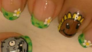 Plants Vs Zombies Nail Art